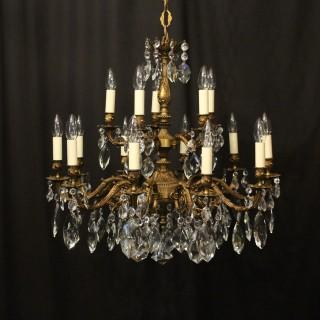 Italian Gilded 15 Light Antique Chandelier