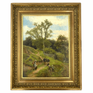 OIL ON CANVAS PAINTING BY THE ENGLISH ARTIST DAVID BATES (1840 - 1921)