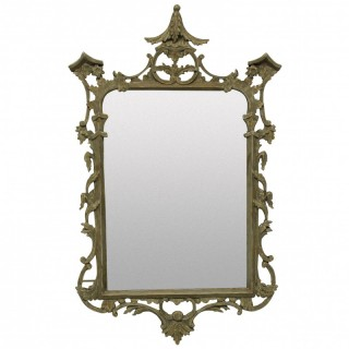 A GEORGE III STYLE PAINTED MIRROR
