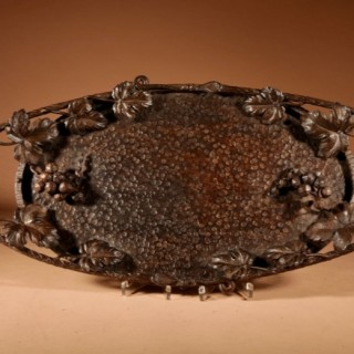 A Fine Wrought Iron Grapevines Tray
