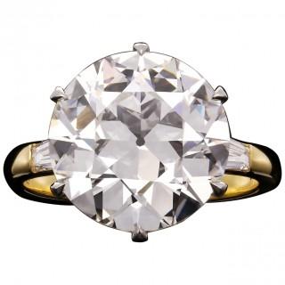 7.09ct G VS1 Old European Brilliant Cut Diamond Ring by Hancocks