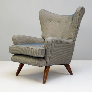 Large Mid Century Wing Back Armchair
