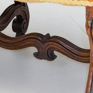 Walnut Framed Settee