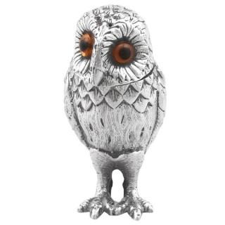Sterling Silver Owl Pepperette - Vintage (1961)