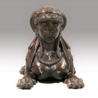 A Well Modelled Early 20th Century Figure of a Sphinx Like Female