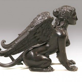 An Early 20th Century Neoclassical Figure of a Female Kneeling