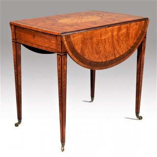 A Fine George III Period Satinwood and Inlaid Pembroke Table