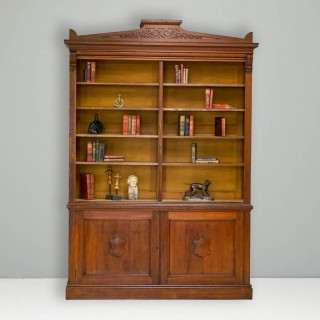 Large Bookcase and Cupboard