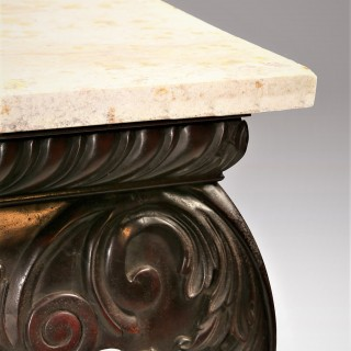 An Exceptional Carved Early 20th Century Irish Serving Table