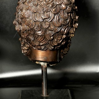 A Finely Cast Late 19th Century Bronze Neoclassical Head