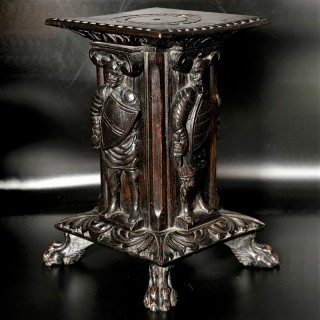 A Late 19th Century Square Section Jacobean Style Stand