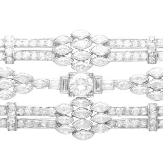4.90ct Diamond and Platinum Brooch - Art Deco - Antique Circa 1925