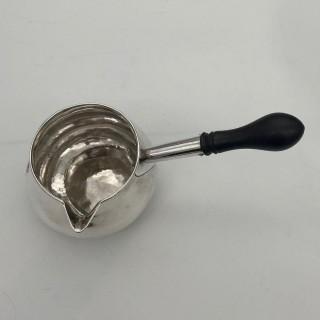 Antique George II Sterling Silver Large Brandy Pan London 1729 James Gould