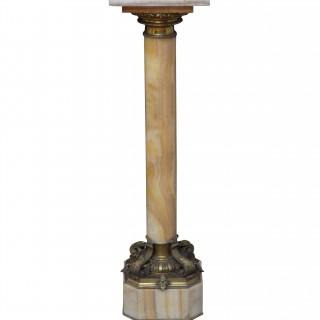 Outstanding 19th Century Onyx Column