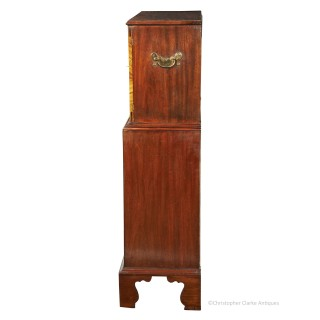 Georgian Collector's Cabinet on Chest