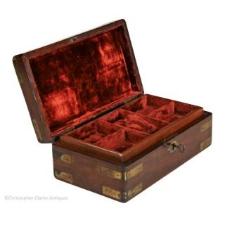 Brass Bound Jewellery Box