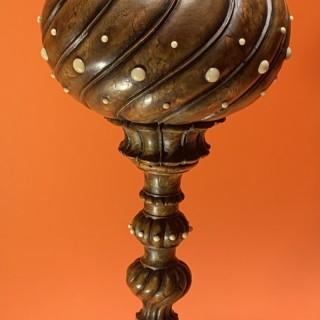 Scandinavian burr wood goblet
