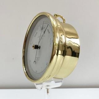 Mid Victorian Brass Cased Aneroid Barometer by Negretti & Zambra London