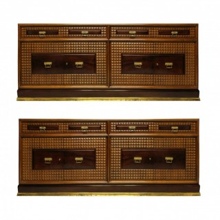 A PAIR OF MONUMENTAL CREDENZA'S BY ATELIER BORSANI