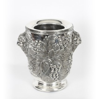 Antique Pair SilverPlated Wine Coolers by Hawksworth, Eyre & Co 19th C