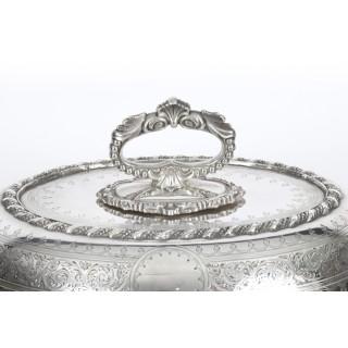 Antique English Entree Dish by Martin Hall 1859 19th Century