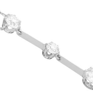 1.74ct Diamond and Platinum Necklace - Antique Circa 1930