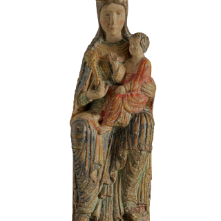 A 16th/17th Century Madonna and Child Carving