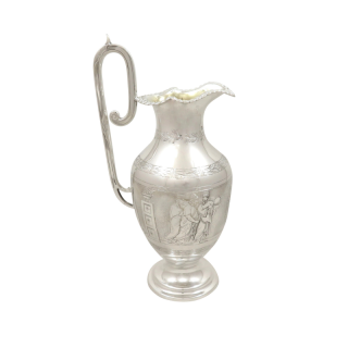 Antique Victorian Sterling Silver Jug 1871 - Roman Soldiers