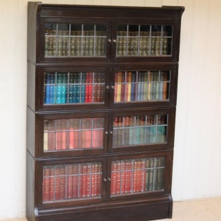 Dark Oak Sectional Stacking Bookcase