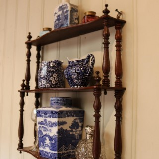 Late 19th Century French Mahogany Wall Shelves