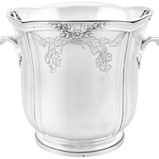 French Silver Wine Cooler - Antique Circa 1905