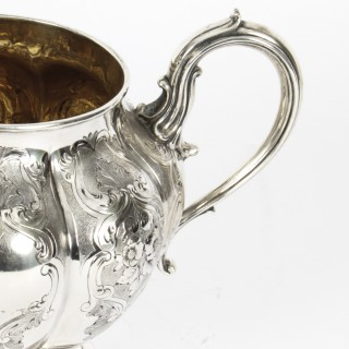 Antique Victorian Silver Sugar Bowl by Elkington & Co 1857 19th C