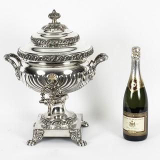 Antique Regency Old Sheffield Silver Plated Tea Urn Samovar C1820