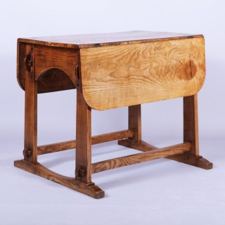 Arts & Crafts / Aesthetic Ash Drop Leaf Centre Table