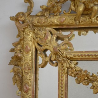 Large 19th Century Giltwood Wall Mirror H183cm