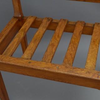 Large Victorian Oak Luggage Rack