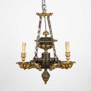 twin arm Empire style bronze Colza light