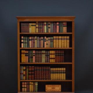 Early XXth Century Mahogany Open Bookcase
