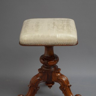 Victorian Height Adjustable Stool in Rosewood