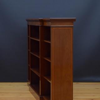 Sheraton Revival Mahogany Open Bookcase