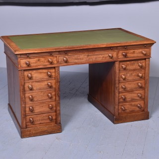 Victorian Mahogany Pedestal Kneehole Desk