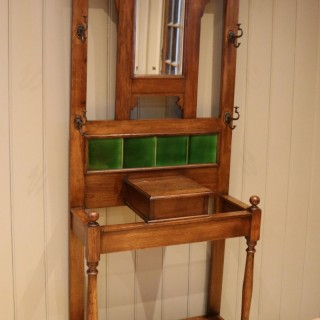 Solid Oak Hall Stand