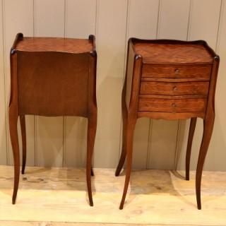 Pair Of Mahogany Inlaid Bedside Cabinets