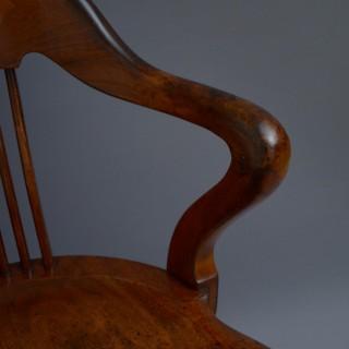Victorian Walnut Revolving Office Chair