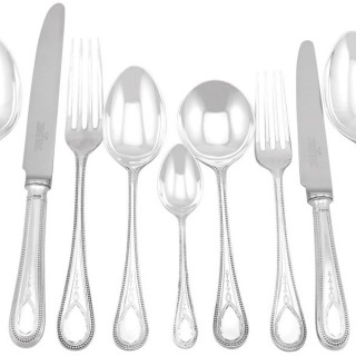 Sterling Silver Canteen of Cutlery for Eight Persons - Vintage (1992)