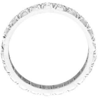 1.10ct Diamond and Platinum Full Eternity Ring - Vintage Circa 1940