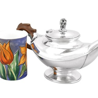 Sterling Silver Teapot by Omar Ramsden - Antique George V (1931)