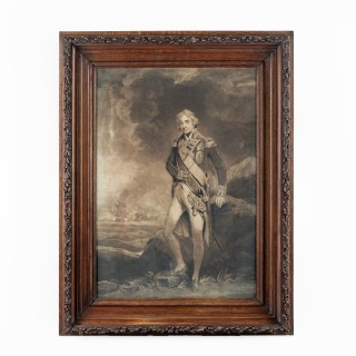 A picture frame made of oak from H.M.S. Victory