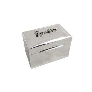 Antique Sterling Silver Bridge Card Box 1930