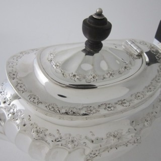 Antique Victorian Sterling Silver Teapot - 1891